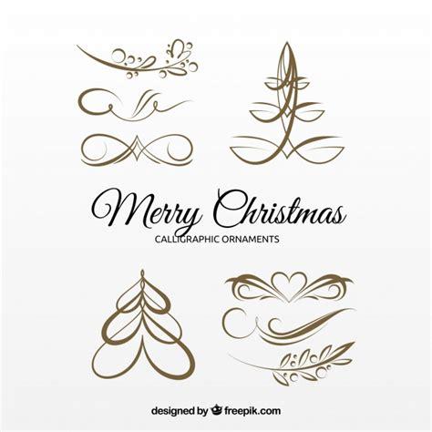 verzierung hochzeitskarte several golden calligraphic ornaments vector