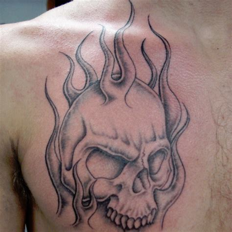 skull with flames tattoo designs 99 gnarly skull tattoos that will make you gawk