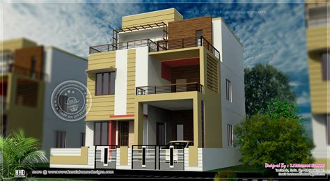 3 story house plan design in 2626 sq home kerala plans