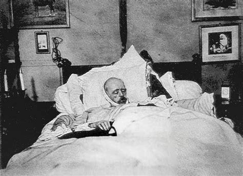 bed death bismarck on his deathbed iconic photos