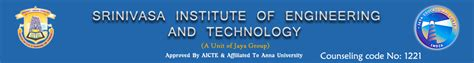 Mba Engineering And Technology Management by Srinivasa Institute Of Engineering And Technology Chennai