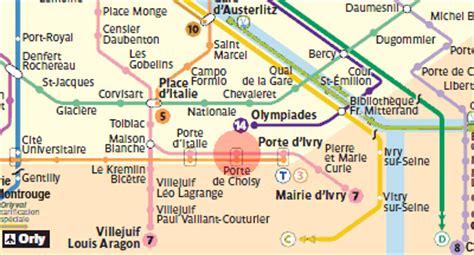 porte de choisy station map metro