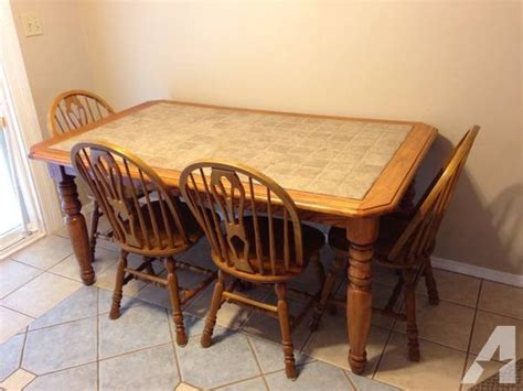 tile top kitchen table and chairs solid wood and tile kitchen table w 4 chairs for