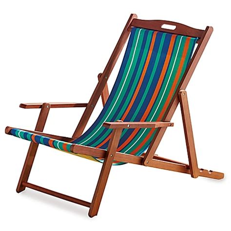 Beech Chairs by Buy Resort Striped Folding Wood Chair From Bed Bath
