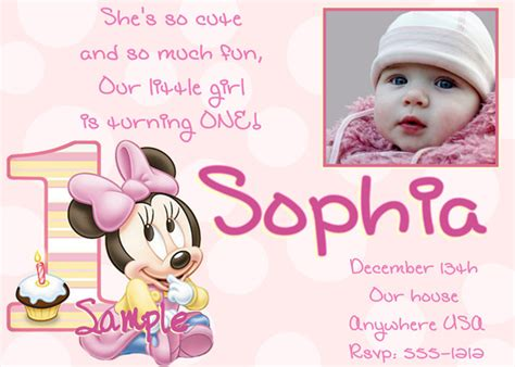1st Birthday Invitation Card For Baby Baby Girl S 1st Birthday Invitation Cards Ideas