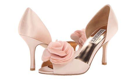 powder pink wedding shoes