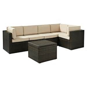 Wicker Patio Sectional by Palm Harbor 6 Piece Wicker Patio Sectional Seati Target