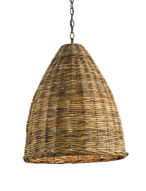 Woven Pendant Light Currey And Company 9845 Basket 1 Light Pendant With Woven Arurog Shade