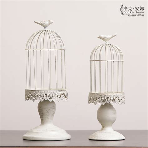 Decorative Bird Cage Candle Holder by 2 Pieces Metal Antique Wedding Bird Cage Candle