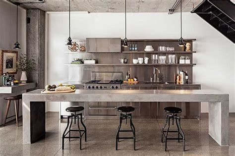 concrete kitchen design enviable kitchen design of a chef my warehouse home