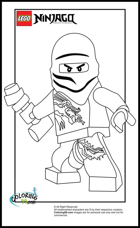 free coloring pages of zane ninjago