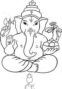 Ganpati Coloring Pages shri ganesha for children to colour children s land