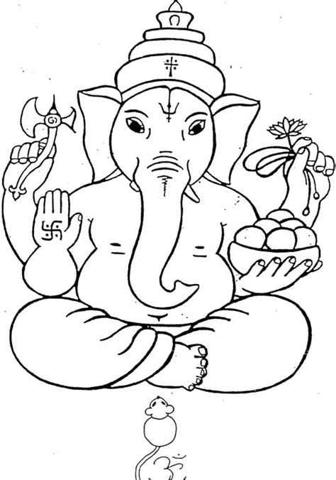 shri ganesha for children to colour children s land