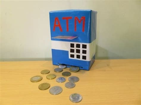 How To Make A Paper Bank - how to make a atm machine piggy bank mini atm machine at