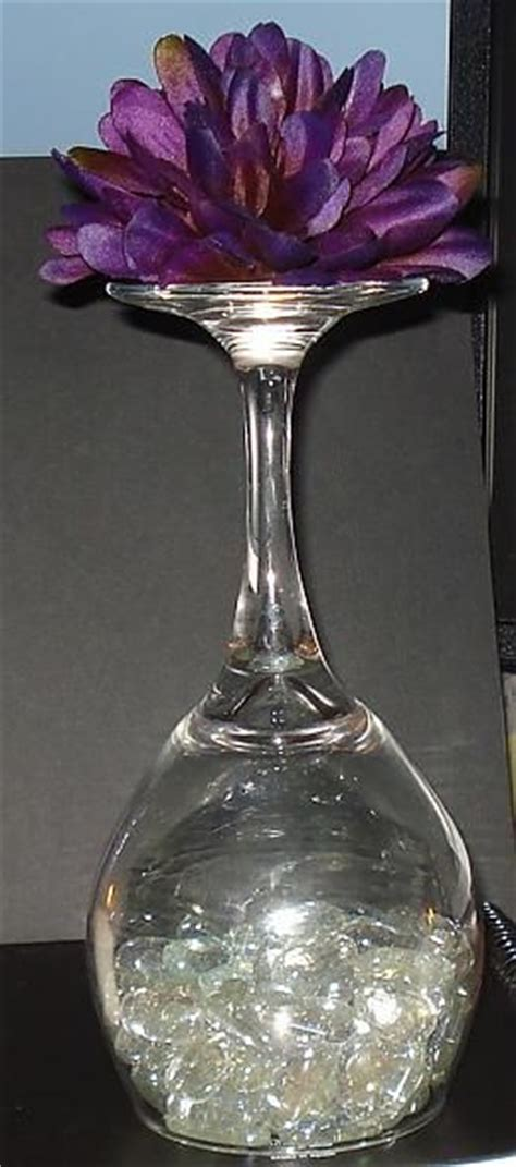 Wine Glass Table Decoration by Wine Glass Centerpieces On Dollar Store