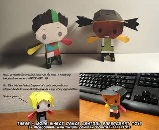 Paper Craft Central - ninjatoes papercraft weblog d l kinect dancecentral