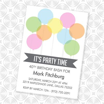 Balloon Invitation Template it s time invitation with balloons print