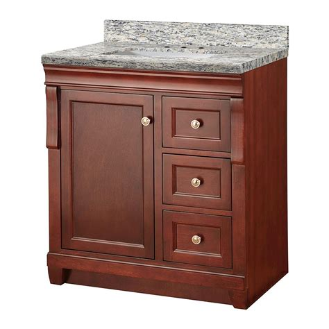Foremost Naples Vanity White by Foremost Naples 31 In W X 22 In D Vanity In Tobacco With