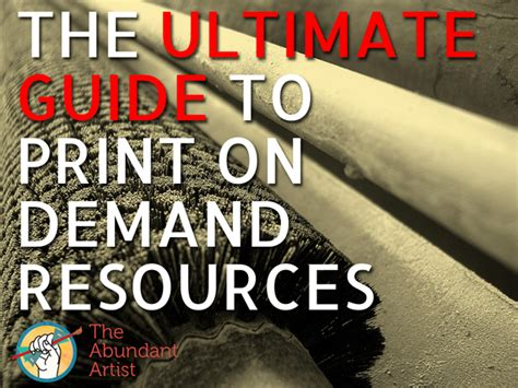 The Ultimate Guide To Resources by The Ultimate Guide To Print On Demand Pod Resources
