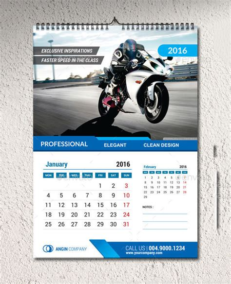 wall design templates 2016 calendar template 51 free word pdf psd eps ai