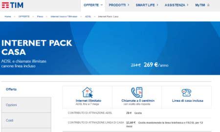 offerta tim adsl casa offerte adsl tim tim pack casa komparatore it