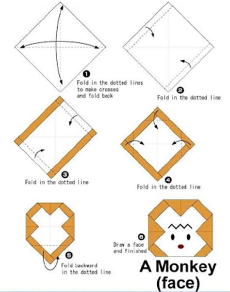 How To Make Origami Monkey - how to make origami how to make monkey origami
