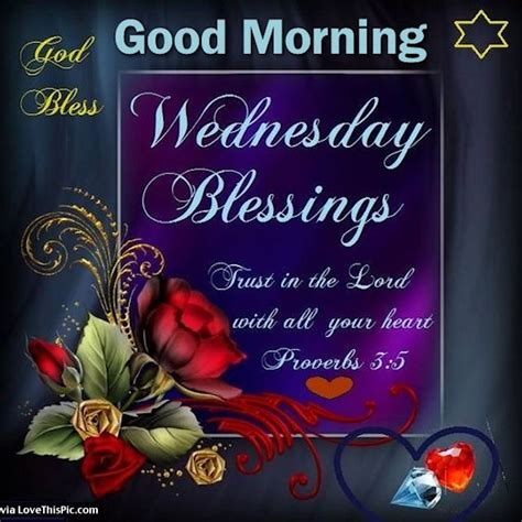 Good Morning Wednesday Blessings Trust In The Lord