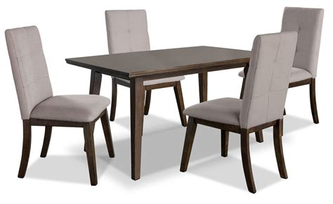 chelsea 5 dining table package with beige chairs