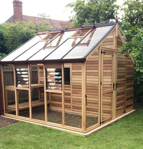 serre de jardin en bois o 249 acheter une serre en bois anglaise