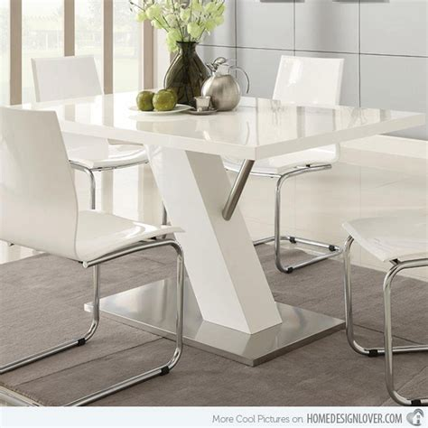 modern white dining table set refreshingly neat 15 white dining sets home design lover