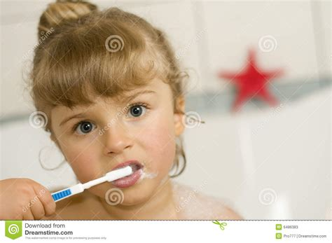 Foam Soap For Bathtub Little Brushing Teeth Stock Photos Image 6486383