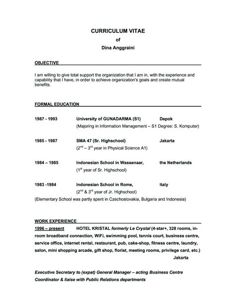 Best Objective For Resume by Objectives For A Resume Berathen