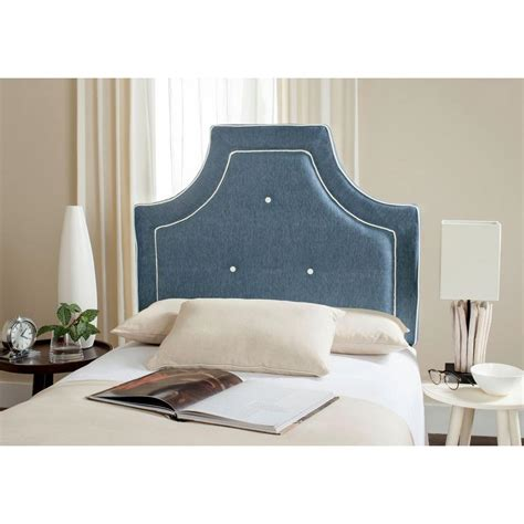 blue twin headboard safavieh tallulah denim blue white twin headboard
