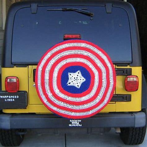 Captain America Jeep Tire Cover Captain America Spare Tire Cover Neatorama