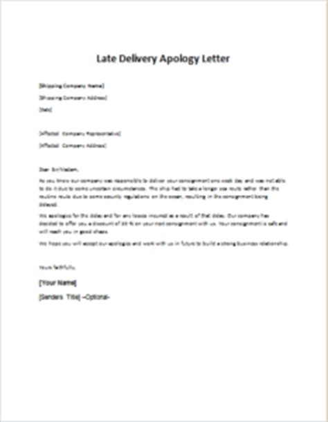 business apology letter late delivery late delivery apology letter writeletter2