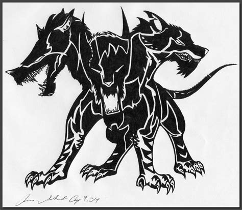 cerberus tattoo designs cerberus by dusky hawk on deviantart