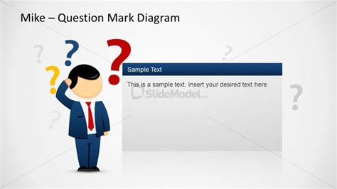 question powerpoint template mike question diagram template for powerpoint