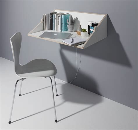 design milk desk twofold space saving wall shelf desk hybrid by studio