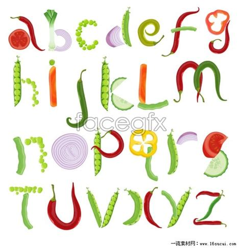 vegetables 4 letters fruit and vegetable alphabet vector fruits veggies