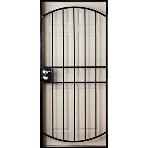 Metal Security Doors by Gatehouse 9202305 Gibraltar Black Steel Security Door