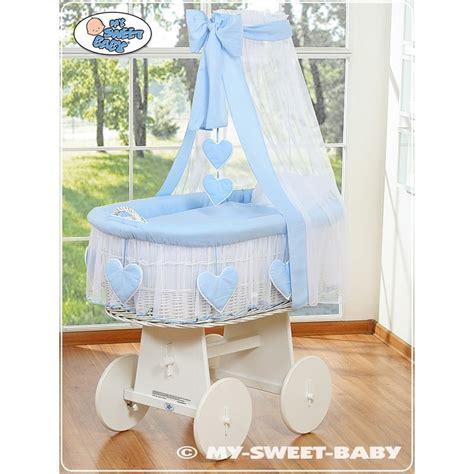 culle per neonato vimini neonato cuore bianco