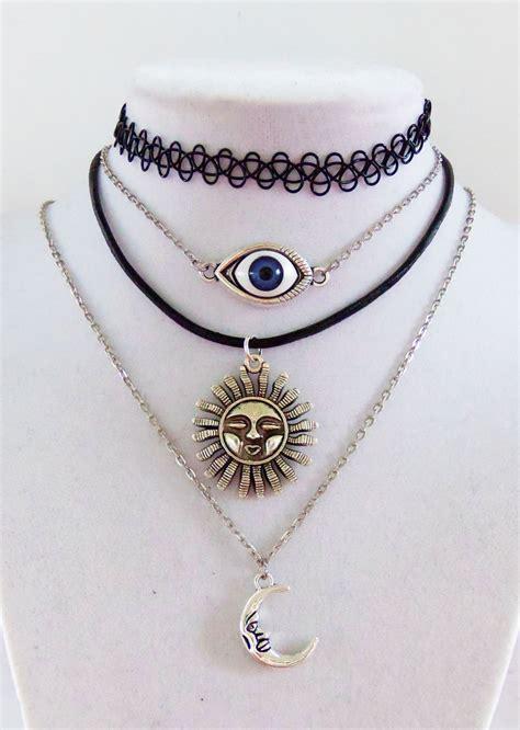 tattoo choker necklace 90s style grunge choker grunge necklace stretchy tattoo