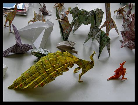 Origami Paintings - origami by lilithia on deviantart
