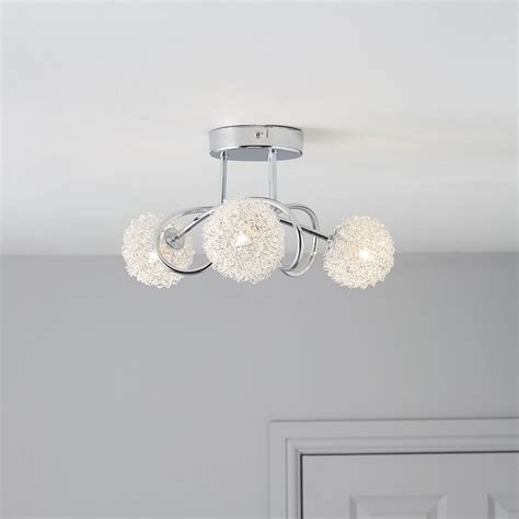 pallas chrome effect 3 l ceiling light departments