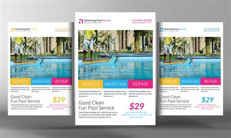 20 Cleaning Services Flyers Templates Swimming Pool Website Templates Free