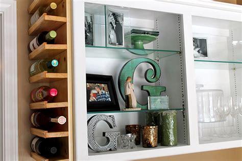Hgtv s built in custom diy wine rack is made