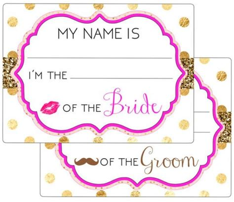 free printable bridal shower tags printable name tags event wedding engagement party