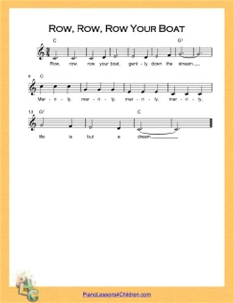 row row row your boat notes piano free online piano lessons for row row row your boat song