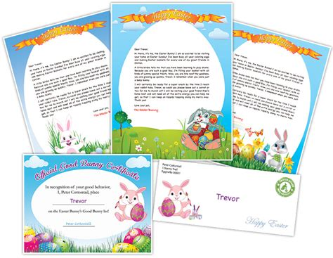 printable easter letters easter bunny letter exle personalized letters from