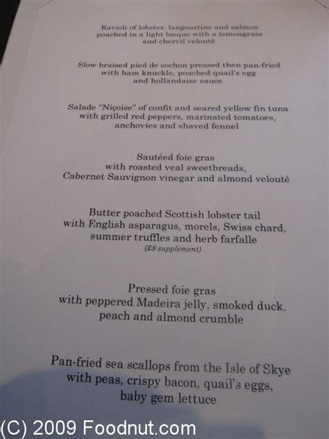 gordon ramsay dinner menu gordon ramsay royal hospital road restaurant review